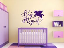 "Fantasy ""Stay Magical"" wall art sticker, quote, vinyl transfer"